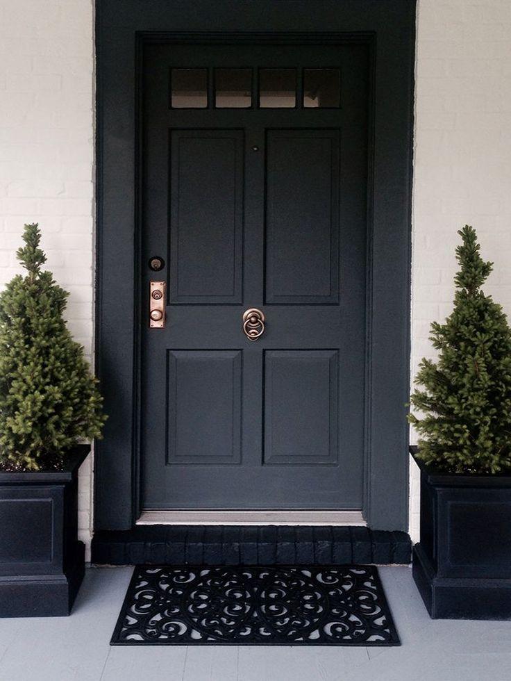 Black Front Door - The Best Brass Hardware