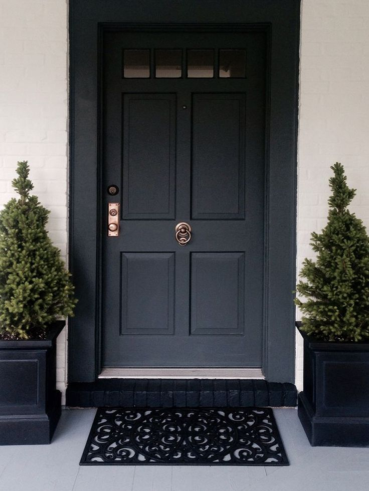 25 best ideas about black exterior doors on pinterest for Black wooden front door