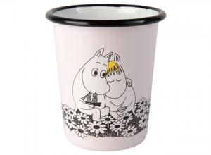 Moomin Rerto enamel tumbler 4dl, Together Forever / Muumi Retro emalijuomamuki 4dl, Ikuisesti Yhdessä