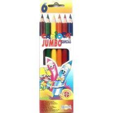 Vastag, 6 darabos, Carioca Jumbo színes ceruza készlet - Színes ceruzák - 599Ft…
