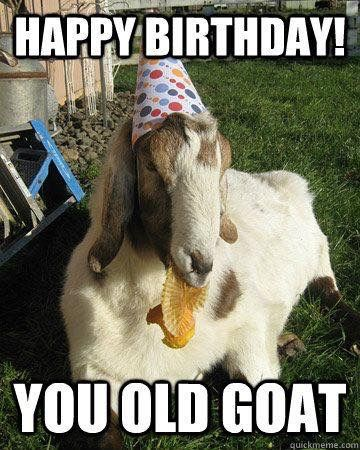 It's a humorous birthday card for someone who is older. Most probably, a man, according to old goat term.