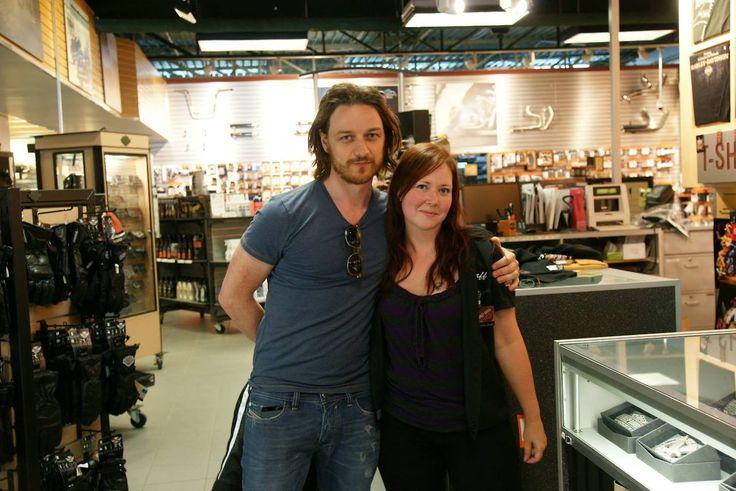 James visiting the Harley-Davidson Montreal store (2013)
