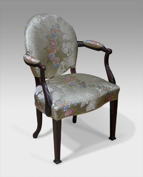 Small Georgian mahogany arm chair - 238 Best Antique Chairs / Sofas / Stools Images On Pinterest