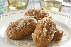 melomakarona - my favourite of the greek desserts. I have to learn to make them, ah..yum!