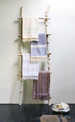 Handtuchhalter Aus Birke #design #dekoration #selbstgemacht #diy