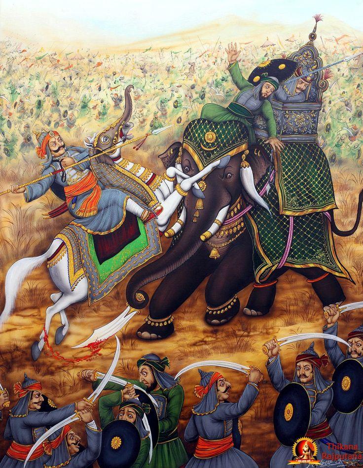 mughal war elephant art - Google Search