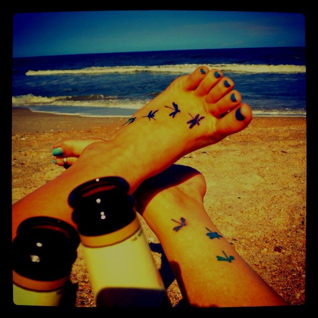 Cute Mother Daughter Affectionate Tattoos: Matching Tattoos Beach Beer Mom And Daughter... That's