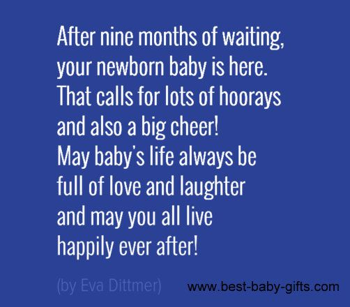 what to write in a baby congratulations card  baby poem by eva dittmer