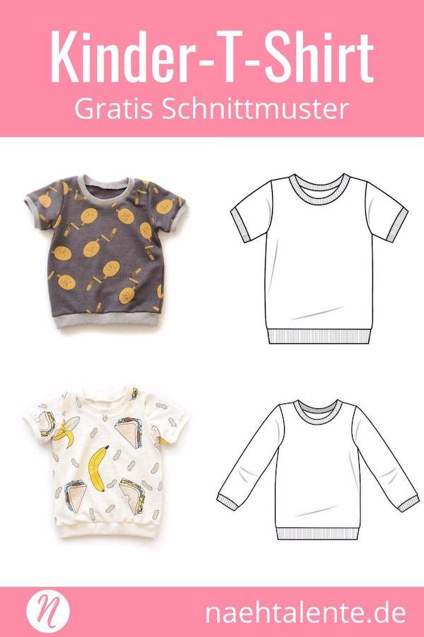 T-Shirt für Kinder - Freebook für Kurz- und Langarmshirts | Nähen ...