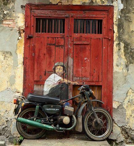"""Ernest Zacharevic da da IL RAMO D'ORO """"Street Art"""" https://ilramodoro-katyasanna.blogspot.it/2013/11/street-art.html"""