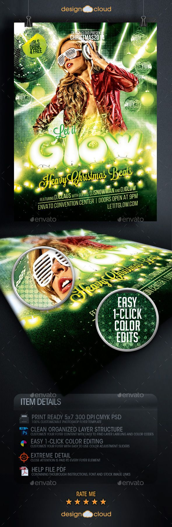 Best Cool Christmas Flyer Templates Images On