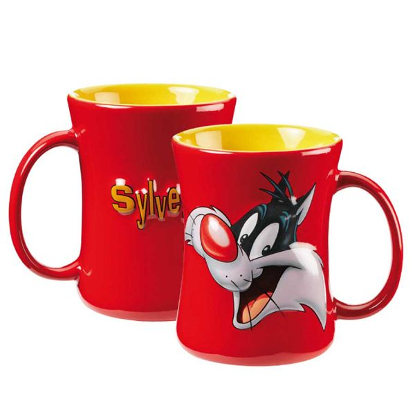 Flouda store | Κούπα ανάγλυφη Sylvester κεφάλι κόκκινη