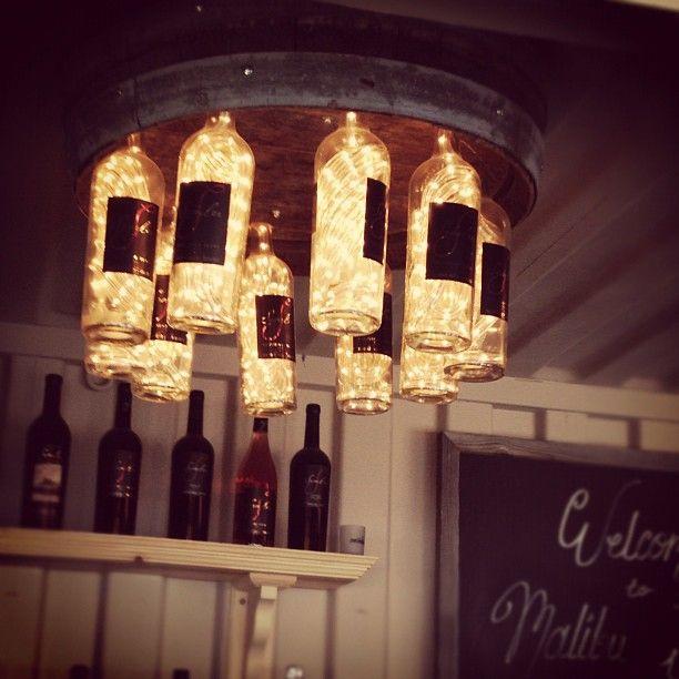 Custom wine bottle lights at Malibu Wines!Cheap Sunglasses Rayban, Wine Bottle Lights, Raybansunglasses Rayban, String Lights, Malibu Wine, Ropes Lights Ideas, Outlets Raybansunglasses, Wine Cellars, Custom Wine