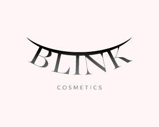 Blink Cosmetics Logo design