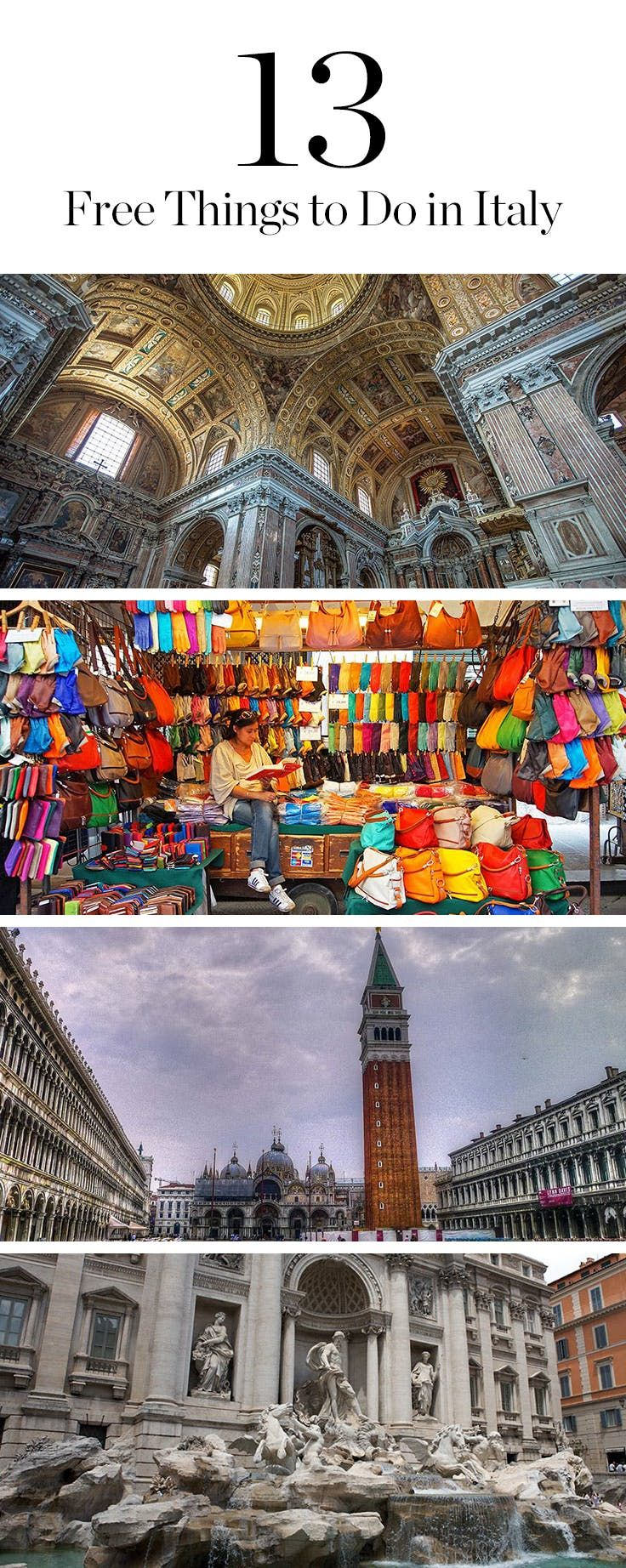 13 Fabulous Free Things to Do in Italy via @PureWow