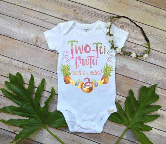 Second Birthday Shirt, Tutti Frutti theme, Girl Birthday Shirt, Tropical Birthday, 2nd Birthday, Girl Birthday shirt, Second Birthday Party