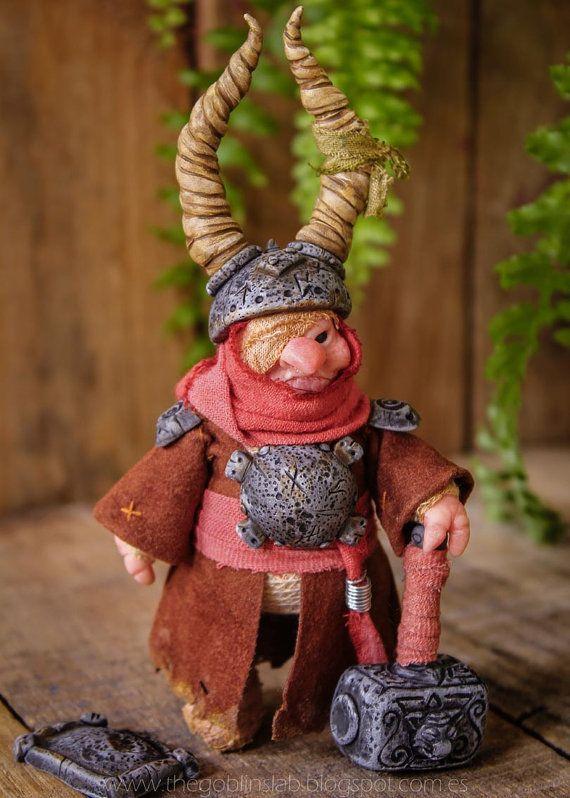 Goblin Doll. Handmade. OOAK Creature. Fantasy Doll by Goblins Lab. MYTHICAL CREATURE. Fairies and Goblins.  Handmade. Ooak Doll. criatura fantástica por GoblinsLab. Criaturas Mágicas de Fantasía hechas a mano, por el artista Moisés Espino. The Goblin´s Lab. Madrid. Criaturas 100% hechas a mano. Duendes, Hadas, Trolls, Goblins, Brownies, Fairies, Elfs, Gnomes, Pixies....  *Artist Links:  http://thegoblinslab.blogspot.com.es/ https://www.etsy.com/shop/GoblinsLab…