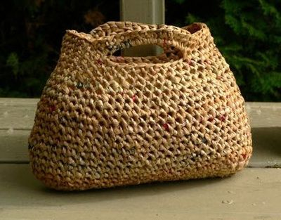 Crochet With Plarn! Five Easy Projects Upcycled From Plastc Strips - SassaFrass Crochet and Design