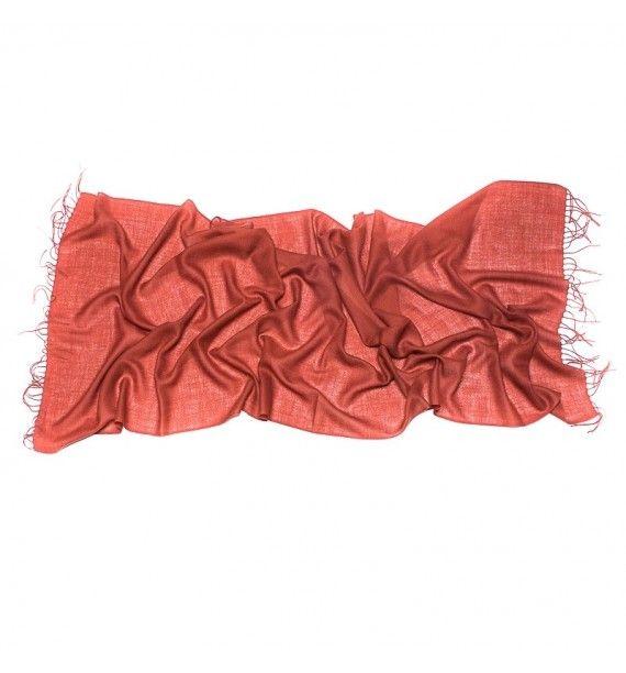 Esarfa fina din lana si cashmir in culoarea anului marsala, Tie-Me-Up