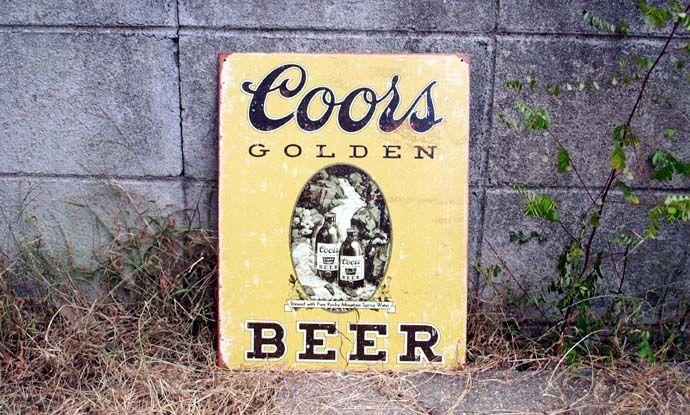 ブリキ看板 Coorsビール