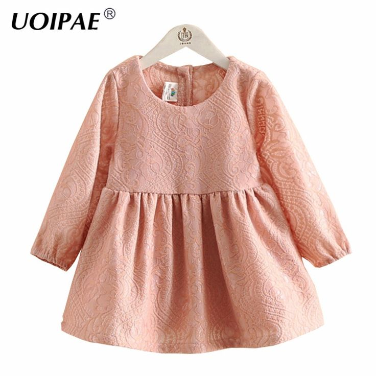 19.60$  Buy now - http://aliy73.shopchina.info/1/go.php?t=32713933800 - Dress Baby Girl New Autumn 2016 Fashion Dark Pattern Dresses For Girls Cute Long Sleeve Pretty Children Clothing 4147W 19.60$ #buyonlinewebsite