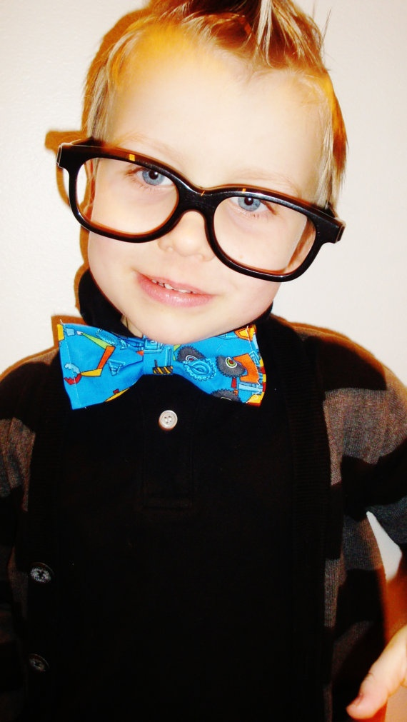 Glasses and bow tie :)