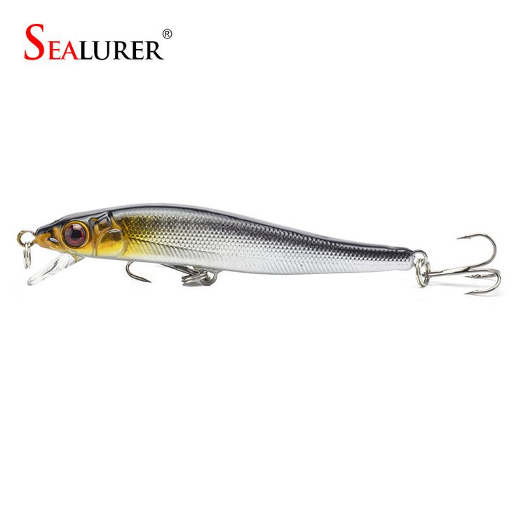 Sealurer Brand New Minnow Fishing Lures 8CM 5.7G 8# Hooks Fish Minnow Lure Tackle Hard Bait Pesca Wobbler Artificial Swim bait [Affiliate]