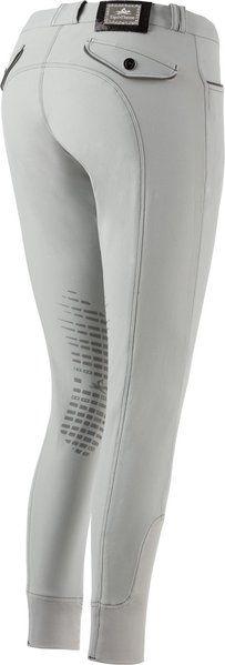 """Pantaloni equitazione ragazza Equi-thème modello """"Verona"""" adatti a tutte le stagioni, traspiranti ed elasticizzati 60% cotone, 33% poliammide, 7% spandex con con toppe in silicone alle ginocchia."""