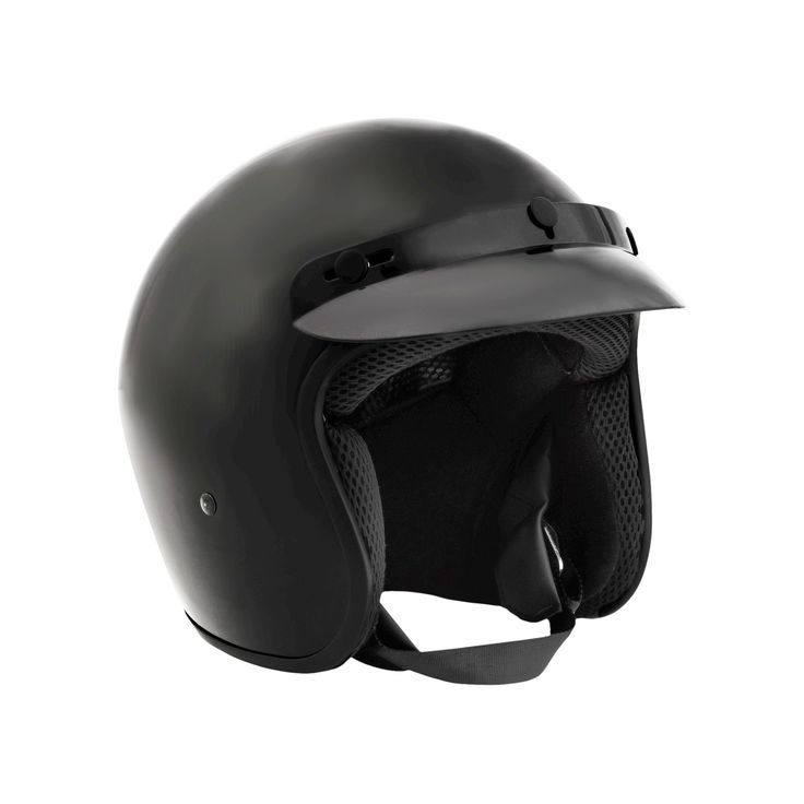 Fuel Open Face Helmet with Shield - Small, Black