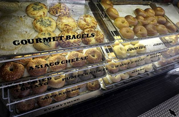 The original Noah's Bagel location on College Avenue in Berkeley, Calif., features many varieties of bagels on Thursday, Dec. 3, 2009. Photo: Paul Chinn, The Chronicle