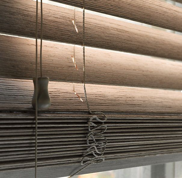 Wood blinds custom shades restoration hardware to for Restoration hardware window shades