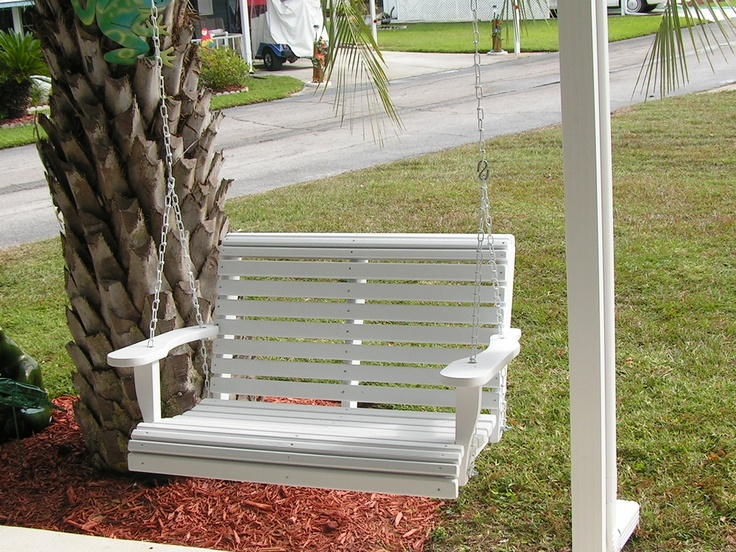 Porch Swing Chair from www.CypressMoonPorchSwings.com