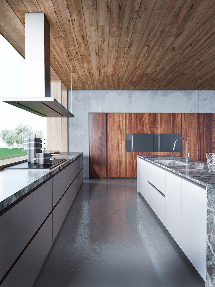 447 best Zuhause images on Pinterest Home ideas, Future house - küche mit schräge