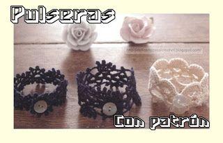 Delicadezas en crochet Gabriela: Brazalete en ganchillo para principiantes