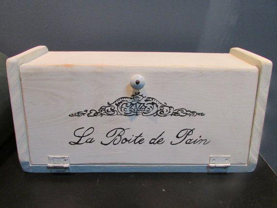 french vintage bread box la boite de pain french country cottage s. Black Bedroom Furniture Sets. Home Design Ideas