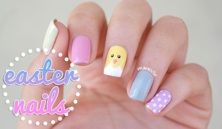 Manicura de pollito   Uñas de Pascua   Belleza