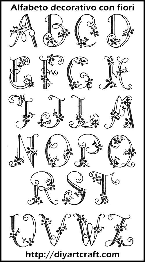 lettere alfabeto degli amanuensi - Cerca con Google ...