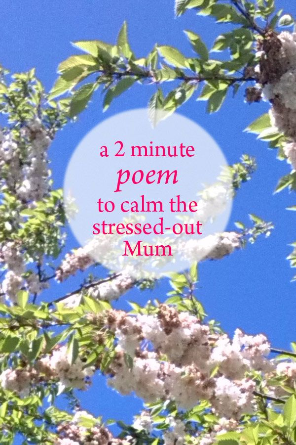 A 2 minute meditation poem to calm the stressed-out Mum