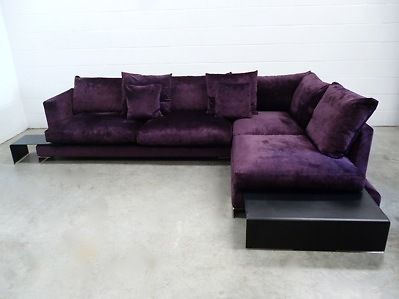 Mint Rless Flexform Long Island Sectional L Shape Sofa In Purple Velvet My Haunted Mansion Pinterest Shaped And Home