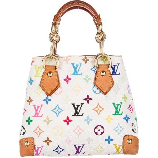 Pre-owned Louis Vuitton Multicolore Audra Bag ($745) ❤ liked on Polyvore featuring bags, handbags, white, coated canvas handbags, multi color handbag, louis vuitton, hand bags and multi colored handbags