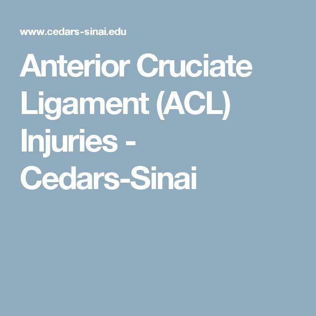 Anterior Cruciate Ligament (ACL) Injuries - Cedars-Sinai