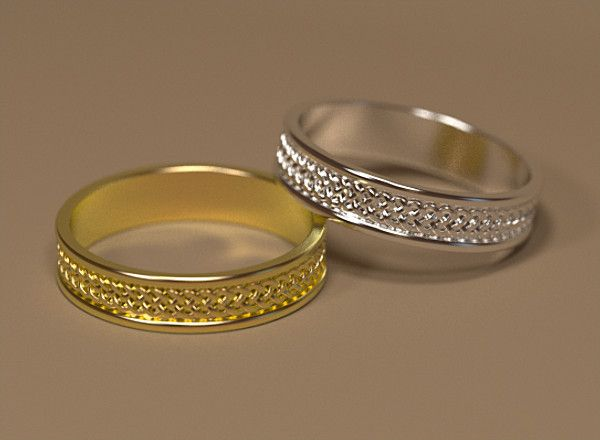 3ds max celtic wedding ring