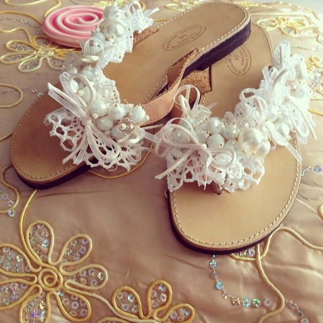 Wedding Handmade sandal with precious stones