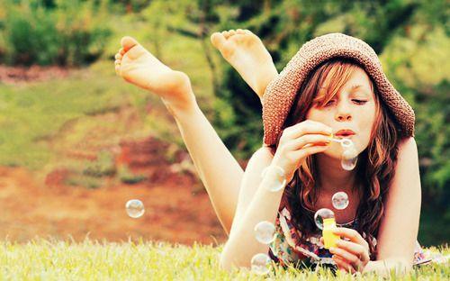 bubble photo shoot