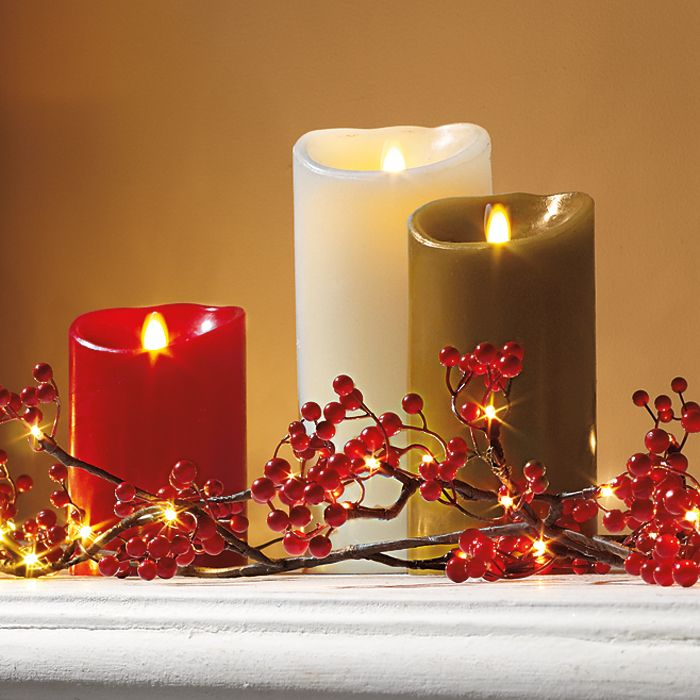 Luminara Flameless Candle - I would like some of these.  All sizes, all colors.