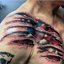 Image result for ripped skin tattoo shoulder