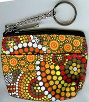 Keychain Coin Purse Kangaroo (ochre) by Colin Jones $8.00 or 2 for $15.00 Code:  KCOIN-CJK02