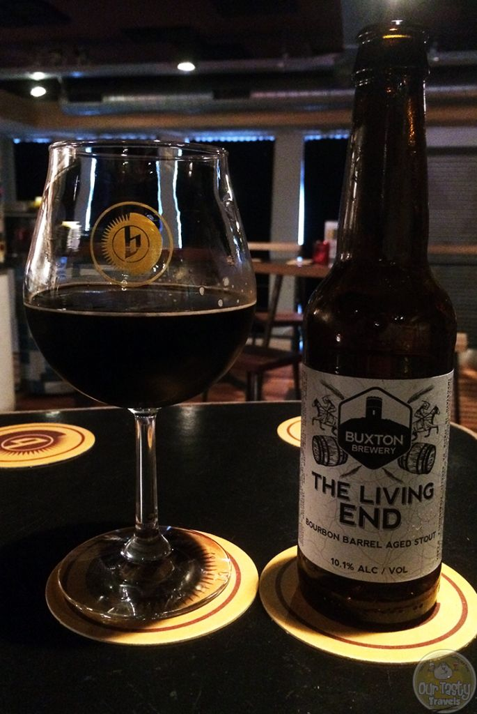 11-Aug-2015: The Living End (Bourbon Barrel) by Buxton Brewery. Very nice (once it warmed up a little). Dark coffee. Caramel and vanilla. Some chocolate. All that dark stuff. A wee bit boozey on the aftertaste. But still lovely. #ottbeerdiary