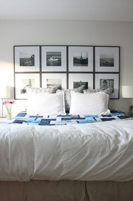 Best 25+ Picture frame headboard ideas on Pinterest | Black and white  bedspreads, Above bed decor and Bedroom wall decor above bed