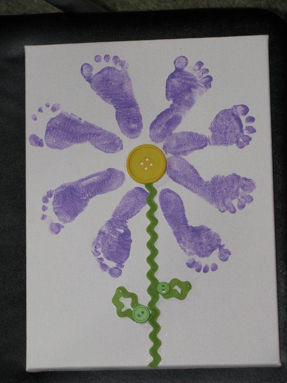 Baby Footprint Flower | infant activities | Pinterest | Footprint ...